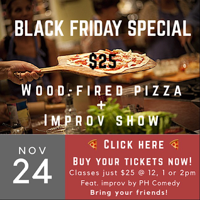 Pizza & Comedy (Noon)